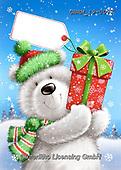 Roger, CHRISTMAS ANIMALS, WEIHNACHTEN TIERE, NAVIDAD ANIMALES, paintings+++++,GBRM19-0077,#xa# ,sticker,stickers ,ice bear,polar bear