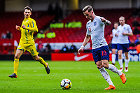 ?Norwich City's forward James Maddison (10) for England U21's during the International Euro U21 Qualification match between England U21 and Ukraine U21 at Bramall Lane, Sheffield, England on 27 March 2018. Photo by Stephen Buckley / PRiME Media Images.