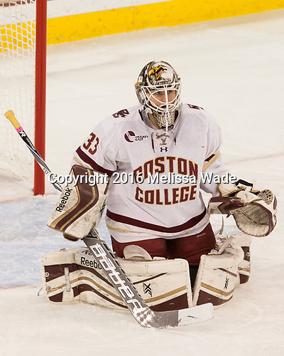 Katie Burt (BC - 33) - The Boston College Eagles defeated the visiting Boston University Terriers 5-3 (EN) on Friday, November 4, 2016, at Kelley Rink in Conte Forum in Chestnut Hill, Massachusetts.The Boston College Eagles defeated the visiting Boston University Terriers 5-3 (EN) on Friday, November 4, 2016, at Kelley Rink in Conte Forum in Chestnut Hill, Massachusetts.