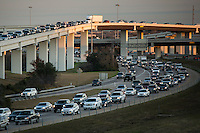 "Afternoon rush hour traffic fills the ""Spaghetti Bowl"" Mopac exchange in northwest Austin, connects Highway 183, Mopac Loop 1 and Loop 360, the Capital of Texas Highway."