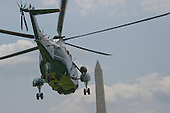Marine One, with United States President Barack Obama and members of the first family aboard, departs the White House in Washington, DC on Saturday, August 6, 2016 to travel to Martha's Vineyard, Massachusetts for their annual two week vacation.  <br /> Credit: Ron Sachs / Pool via CNP