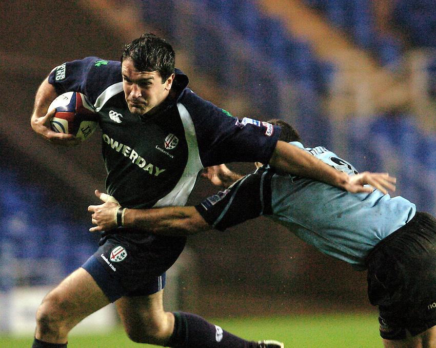 Photo. Henry Browne..23/11/2003..London Irish v Newcastle Falcons. .Zurich Premiership..Nick Greenstock.