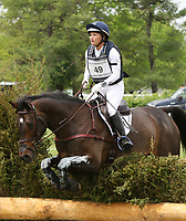 LEXINGTON, KY - April 29, 2017.  #49 Under Suspection and Hannah Sue Burnett from the USA finish in 5th place after completeing the Cross Country Course at the Rolex Three Day Event at the Kentucky Horse Park.  Lexington, Kentucky. (Photo by Candice Chavez/Eclipse Sportswire/Getty Images)