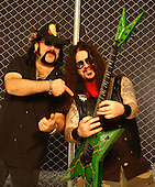 DIMEBAG DARRELL ABBOTT - VINNIE PAUL - PANTERA (2004) .Studio Portrait Session at Lightning Studios, In New York City,.Photo Credit: Eddie Malluk/Atlas Icons.com