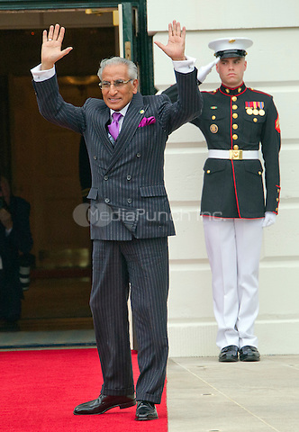 Tariq Fatemi, Minister of State for Foreign Affairs of the Islamic Republic of Pakistan, arrives for the working dinner for the heads of delegations at the Nuclear Security Summit on the South Lawn of the White House in Washington, DC on Thursday, March 31, 2016.<br /> Credit: Ron Sachs / Pool via CNP/MediaPunch