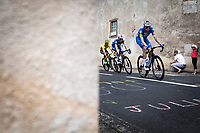 Yellow Jersey Julian Alaphilippe (FRA/Deceuninck Quick Step) piloted by his teammates<br /> <br /> <br /> Stage 9: Saint-Étienne to Brioude (170km)<br /> 106th Tour de France 2019 (2.UWT)<br /> <br /> ©kramon
