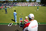Mcc0055084 . Daily Telegraph<br /> <br /> Lawn Bowls Men's Pairs Session 1, England vs India on Day One of the Commonwealth Games in Glasgow .<br /> <br /> 24 July 2014