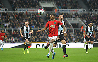 Marcus Rashford of Man Utd during the Premier League match between Newcastle United and Manchester United at St. James's Park, Newcastle, England on 6 October 2019. Photo by J GILL / PRiME Media Images.