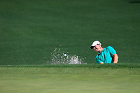 Rory McIlroy (NIR) on the 2nd green side bunker during Wednesdays preview at the The Masters , Augusta National, Augusta, Georgia, USA. 10/04/2019.<br /> Picture Fran Caffrey / Golffile.ie<br /> <br /> All photo usage must carry mandatory copyright credit (&copy; Golffile | Fran Caffrey)