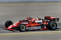 Bobby Rahal drives during the 1983 Indy 500 auto race in Indianapolis, Indiana.