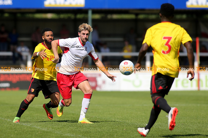 Joey Jones of Woking in action during Woking vs Watford, Friendly Match Football at The Laithwaite Community Stadium on 8th July 2017