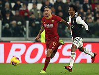 Calcio, Coppa Italia round 8 : Juventus - AS Roma, Turin, Allianz Stadium, January 22, 2020.<br /> Roma's Aleksandar Kolarov (l) in action with Juventus' Juan Cuadrado (r) during the Italian Cup football match between Juventus and Roma at the Allianz stadium in Turin, January 22, 2020.<br /> UPDATE IMAGES PRESS/Isabella Bonotto