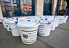 Sep. 1, 2012; Collection buckets before the Mass of Thanksgiving at Dublin Castle. Donations went to several charities in the Dublin Diocese...Photo by Matt Cashore/University of Notre Dame