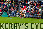 Stephen O'Brien Kerry in action against Jamie O'Sullivan Cork in the National Football League at Pairc Ui Rinn, Cork on Sunday.