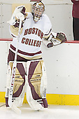 Adam Reasoner - The Boston College Eagles and University of New Hampshire earned a 3-3 tie on Thursday, March 2, 2006, on Senior Night at Kelley Rink at Conte Forum in Chestnut Hill, MA.  Boston College honored its three seniors, captain Peter Harrold and alternate captains Chris Collins and Stephen Gionta, before the game.