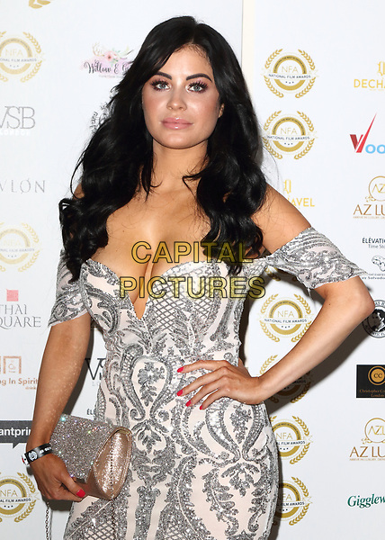 Carla Howe at the National Film Awards at the Porchester Hall, London on  Wednesday 28 March 2018 <br /> CAP/ROS<br /> &copy;ROS/Capital Pictures