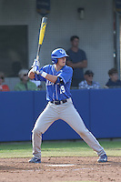 Evan White (19) of the Kentucky Wildcats bats during a game against the UC Santa Barbara Gauchos at Caesar Uyesaka Stadium on March 20, 2015 in Santa Barbara, California. UC Santa Barbara defeated Kentucky, 10-3. (Larry Goren/Four Seam Images)
