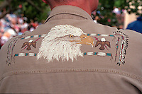 Shirt decorated with eagle at Vietnam Wall on Memorial Day. St Paul Minnesota USA