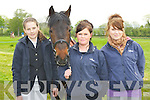 Rachel Moloney Tralee, Grace Walsh and Emma Begley Castleisland with Betty having fun at the Castleisland Horse Show on Sunday