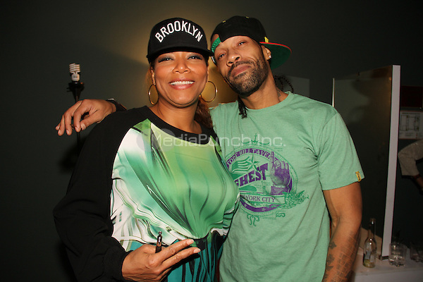 LOS ANGELES, CA - JANUARY 24: Redman, Queen Latifah backstage at the Beats Music Official Launch Party from Beats by Dr. Dre at Belasco Theatre on January 24, 2014 in Los Angeles, California. Credit: Walik Goshorn/MediaPunch