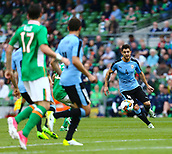 June 4th 2017, Aviva Stadium, Dublin, Ireland; International Friendly, Ireland versus Uruguay;  Alejandro Silva of Uruguay takes control of the ball in the Ireland half