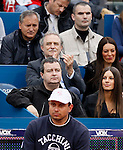 Tenis, Serbia Open 2011.Final.Novak Djokovic (SRB) Vs. Feliciano Lopez (ESP).Serbia'a vice Prime Minister  Ivica Dacic and above  is actor Laza Ristovski.Beograd, 01.05.2011..foto: Srdjan Stevanovic
