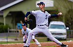 WASHINGTON,  CT-041819JS08- Shepaug's Dom Perachi (21) delivers a pitch during their game against Northwestern Thursday at Tex Alex Field in Washington.  <br /> Jim Shannon Republican American