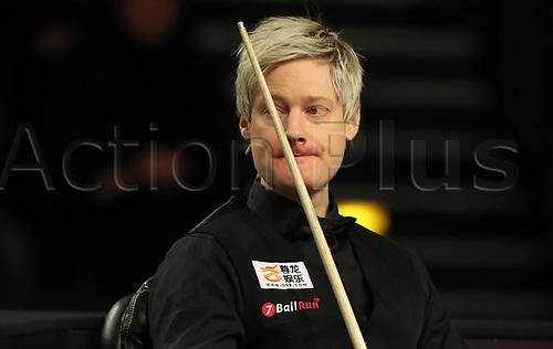 1st February 2019, Berlin, Germany; Snooker Berlin German Masters in Tempodrom;  Neil Robertson looks across the board