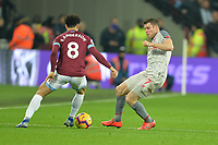 James Milner of Liverpool and Felipe Anderson during West Ham United vs Liverpool, Premier League Football at The London Stadium on 4th February 2019