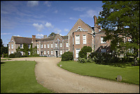 BNPS.co.uk (01202 558833)<br /> Pic: NationalTrust/BNPS<br /> <br /> The Vyne before its restoration began.  <br /> <br /> Its a Wrap - the National Trust has completely encased The Vyne in Hampshire as part of a 5.4 miillion restoration of the historic property.<br /> <br /> Visitors will for the first time be able to get a pigeon eyed view of the 500 year old house as the 71,000 tiles of its roof are removed and replaced over 18 months.<br /> <br /> The huge frame took over three months to erect and includes 41 miles of scaffold poles weighing 339 tonnes.