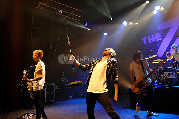 LONDON, ENGLAND - SEPTEMBER 1: Drew Dirksen, Austin Corini, Levi Jones and Nate Parker of 'The Tide' performing at Shepherd's Bush Empire on September 1, 2016 in London, England.<br /> CAP/MAR<br /> &copy;MAR/Capital Pictures /MediaPunch ***NORTH AND SOUTH AMERICAS ONLY***