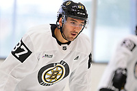 September 15, 2017: Boston Bruins center Patrice Bergeron (37) skates during the Boston Bruins training camp held at Warrior Ice Arena in Brighton, Massachusetts. Eric Canha/CSM