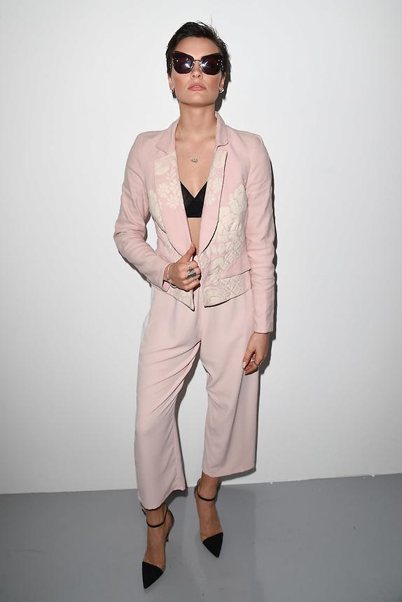 Wallis Day<br /> at the Bora Aksu AW17 show as part of London Fashion Week AW17 at 180 Strand, London.<br /> <br /> <br /> ©Ash Knotek  D3230  17/02/2017