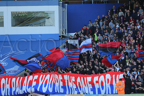 18.04.2015.  London, England. Barclays Premier League. Crystal Palace versus West Bromwich Albion. Palace fans