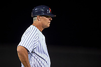 Scottsdale Scorpions manager Jay Bell (11), of the New York Yankees organization, during an Arizona Fall League game against the Mesa Solar Sox on October 23, 2017 at Scottsdale Stadium in Scottsdale, Arizona. The Solar Sox defeated the Scorpions 5-2. (Zachary Lucy/Four Seam Images)