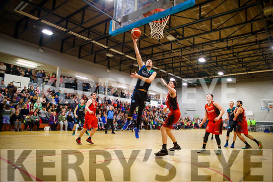 Goran Pantovic Garveys Tralee Warriors in action against Eoghan Kiernan Pyrobel Killester at Tralee Sports Complex on Saturday night last.