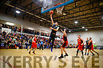Goran Pantovic Garveys Tralee Warriors in action against Eoghan Kiernan Pyrobel Killester at Tralee Sports Complex on Saturday night last.