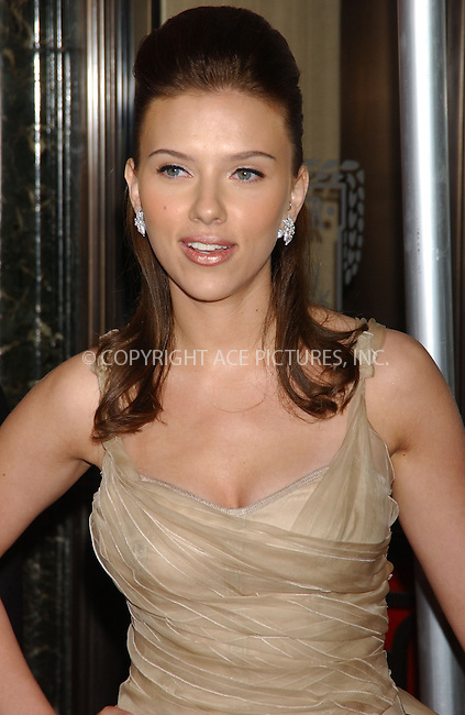 WWW.ACEPIXS.COM . . . . . ....June 8 2006, New York City....Scarlett Johansson arriving at the Cartier Charity Love Bracelet Party at their fifth Avenue Store in Manhattan....Please byline: KRISTIN CALLAHAN - ACEPIXS.COM.. . . . . . ..Ace Pictures, Inc:  ..(212) 243-8787 or (646) 679 0430..e-mail: picturedesk@acepixs.com..web: http://www.acepixs.com