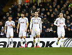 Tottenham's Roberto Soldado looks on dejected after Fiorentina's opening goal<br /> <br /> Europa League - Tottenham Hotspur  vs Fiorentina  - White Hart Lane - England - 19th February 2015 - Picture David Klein/Sportimage