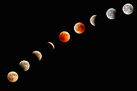 Blood Moon Lunar Eclipse Progression of July 2018