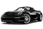 Low aggressive front three quarter view of a .2013 Porsche Boxster S