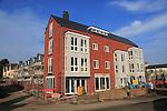 New apartments Whisstocks housing building development, Woodbridge, Suffolk, England, UK