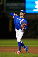 Raynel Delgado (3) of Calvary Christian Academy in Miami Lakes, Florida during the Under Armour All-American Game presented by Baseball Factory on July 29, 2017 at Wrigley Field in Chicago, Illinois.  (Jon Durr/Four Seam Images)