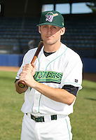Lucas Waters of the Jamestown Jammers, Class-A affiliate of the Florida Marlins, during New York-Penn League baseball action.  Photo by Mike Janes/Four Seam Images