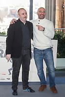 Carlos Areces and Jaime Ordonez pose during `Mi gran noche´ film presentation in Madrid, Spain. February 20, 2015. (ALTERPHOTOS/Victor Blanco) /NORTEphoto.com