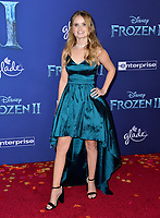"LOS ANGELES, USA. November 08, 2019: Kayla Cromer at the world premiere for Disney's ""Frozen 2"" at the Dolby Theatre.<br /> Picture: Paul Smith/Featureflash"
