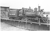 3/4 engineer's-side view of D&amp;RGW #278 on the Gunnison turntable.<br /> D&amp;RGW  Gunnison, CO
