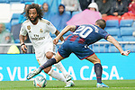 Real Madrid's Marcelo Vieira (l) and Levante UD's Jorge Miramon during La Liga match. September 14,2019. (ALTERPHOTOS/Acero)
