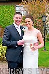 Grainne Ní Chinnéide, daughter of Anne and Paddy, from Balile na hAbha, Baile na nGall, and Damien Walsh, son of Mary and P.J., from Co. Laois, who were married on the 12th of April 2014 at 2pm at Carrig Church by fr. Kiely. Best Man was John Walsh and groomsman was Mark Carroll. Bridesmaids were Deirdre Ní Chinnéide and Deirdre Walsh. Flowergirls were Rubi and Aisling Ní Chinnéide. The reseption was held at the Skellig Hotel, Dingle.