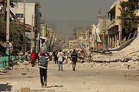 A view of downtown Port au Prince, Haiti, destroyed by an earthquake in January 2010.(Australfoto/Douglas Engle)